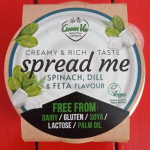 Crema de untar Green Vie tipo queso con espinacas y eneldo